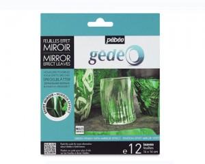 Set Hojas Efecto Espejo Verde