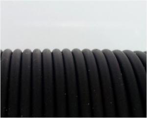 Cordón de Caucho Negro 1.9mm - 1 mt.