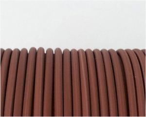 Cordón de Caucho Marrón Claro 1.9mm - 1 mt.