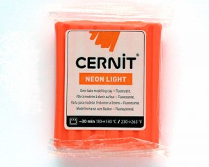 Cernit Neon Light Naranja 56gr (752)