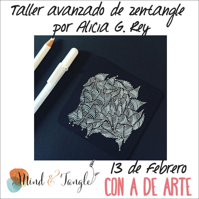 Taller avanzado de Zentangle, por Alicia G. Rey
